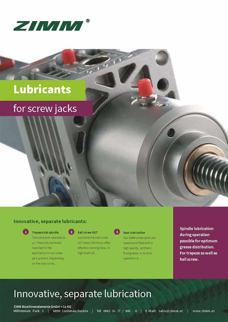 Lubricants for screw jacks | English